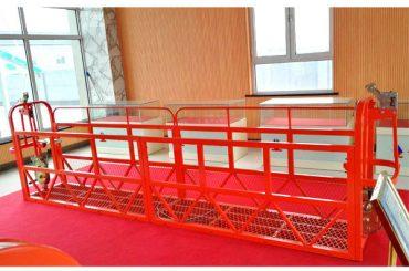 پلت فرم دسترسی معلق به فولاد 7.5m 1.8kw 800kg تعمیر و نگهداری ساختمان