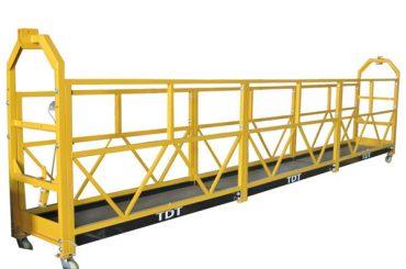 فولاد / گرم گالوانیزه / آلیاژ آلومینیوم طناب پلت فرم معلق 1.5kw 380v 50hz