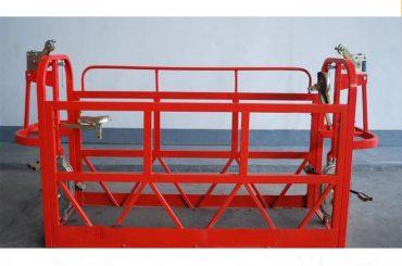 800kg نقاشی / آلومینیوم پانل های دسترسی معلق قدرت موتور 1.8kw پلت فرم داربست