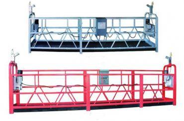 zlp 630 طناب پلت فرم معلق است کار هواپیما نوسان داربست مرحله با اسپری پلاستیکی رنگ شده است