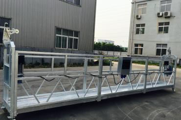 آلومینیوم آلومینیوم قابل تنظیم طناب پلت فرم معلق ZLP 800 برای مرمت / نقاشی