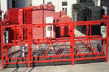 تمیز کردن ساختمان معلق کار پلت فرم zlp800 با بار امتیاز 800kg