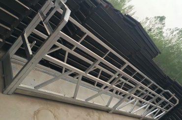 zlp630 / 800 ll شکل آلیاژ آلومینیوم، ساخت و ساز فولاد کار معلق پلت فرم کار بر روی پنجره های ساختمان