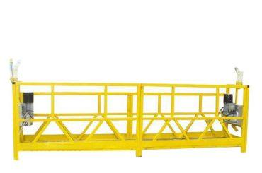 فولاد / آلومینیوم معلق گودال پلت فرم، 630 کیلوگرم تجهیزات دسترسی معلق